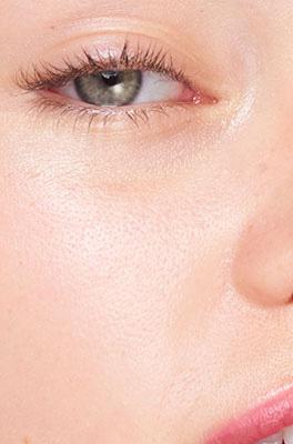 Pores visibility