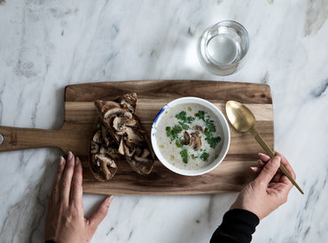 Foodlab - Teimme Jamie Oliverin sienikeittoa